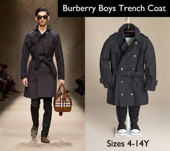 burberry boys navy trench coat