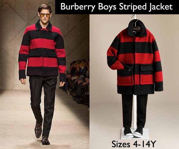 burberry boys striped jacket