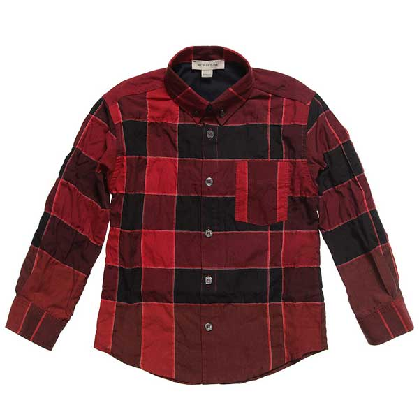 burberry red check shirt