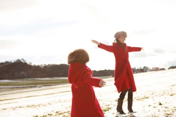 hilda henri mini me red coat fall winter 2014