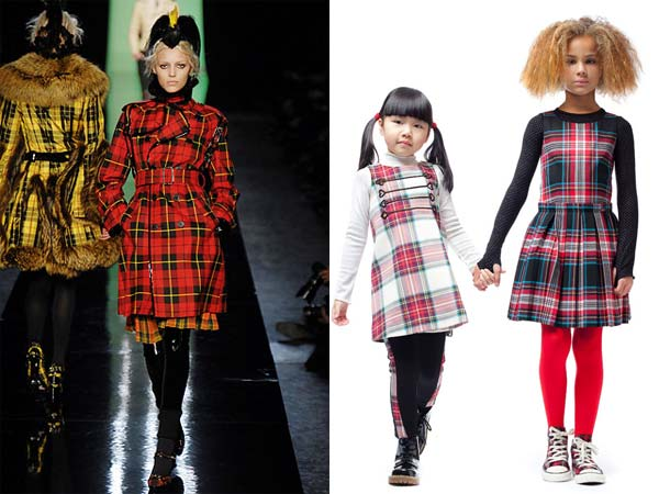 junior gaultier girls tartan look