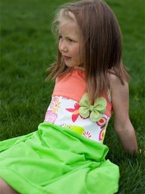 lamanblu girls flowery dress ss14
