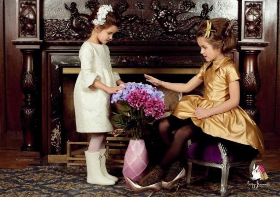 lazy francis girls dress italian fabrics