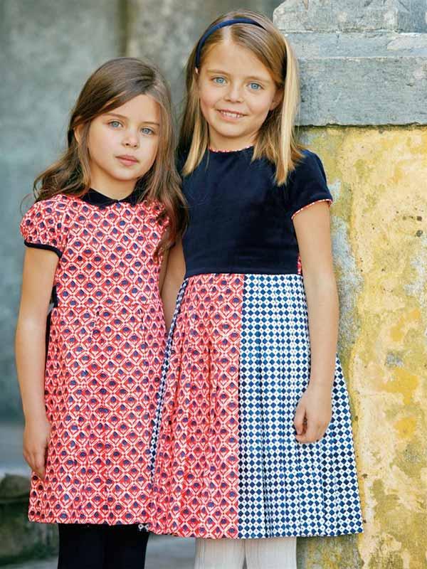 oscar de la renta girls red dress