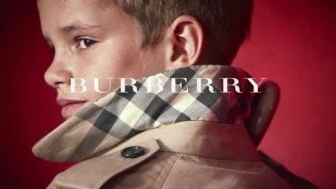 Romeo Beckahm Celebrity Model for Burberry Kids
