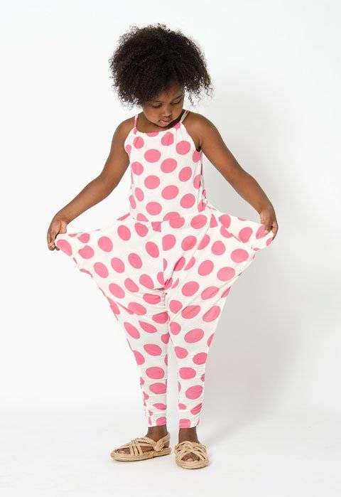 shampoodle pink polkadot jumpsuit summer 2014