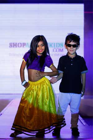swayam bhatia with naman arora showcasing shop all day collection
