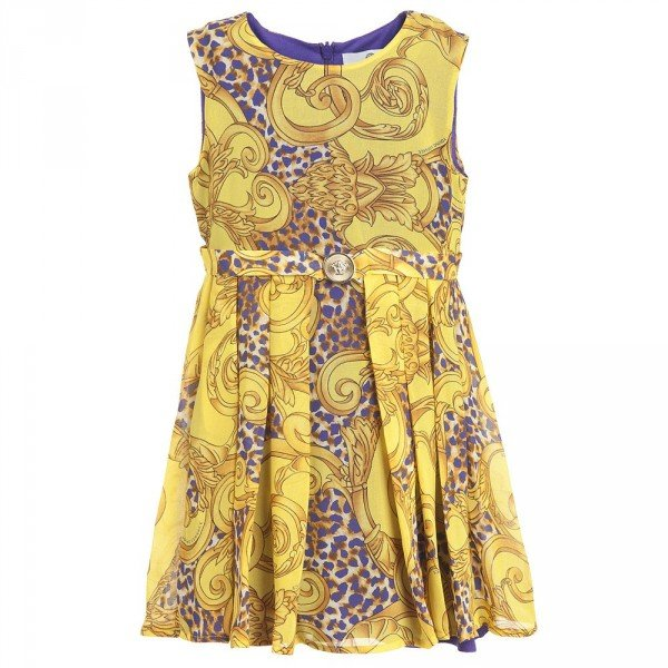 young versace girls yellow dress