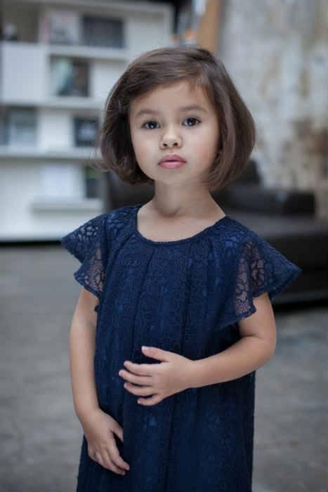 TROIZENFANTS Blue Lace Dress