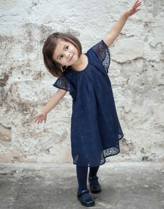 TROIZENFANTS Blue Tulle Dress