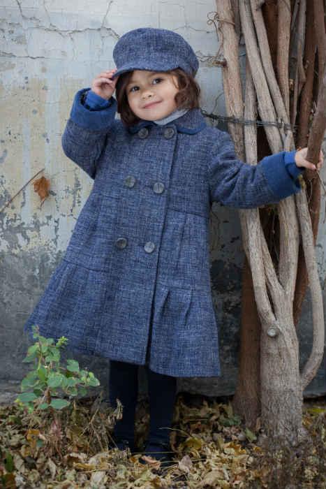 TROIZENFANTS Blue wool Coat