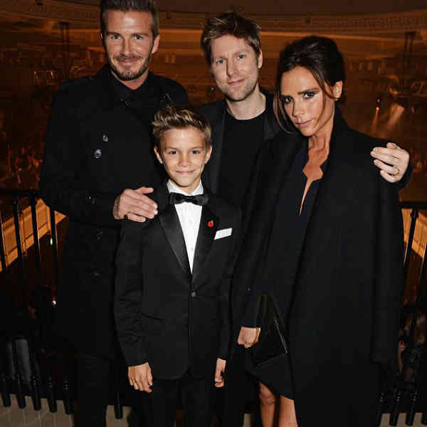 beckham family at burberry holiday 2014 campaign launch