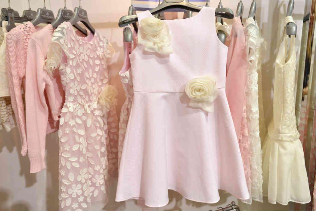 Charabia Girls White Flower Dress
