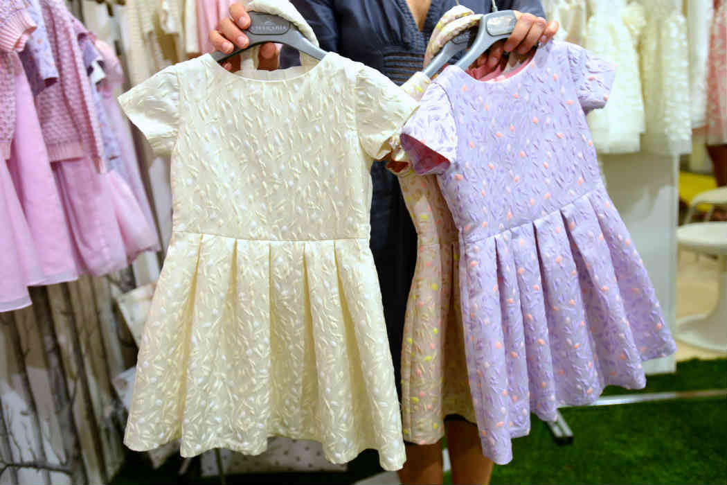 Charabia Special Jacquard White Pink Lilac Dresses