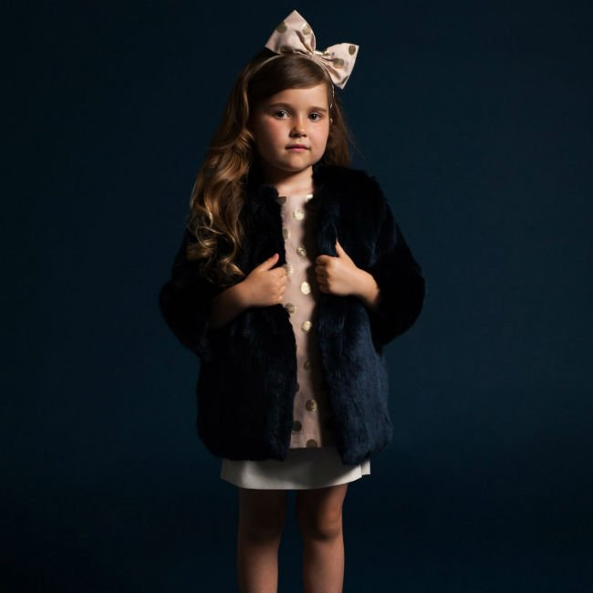 hucklebones london blue faux fur jacket aw14