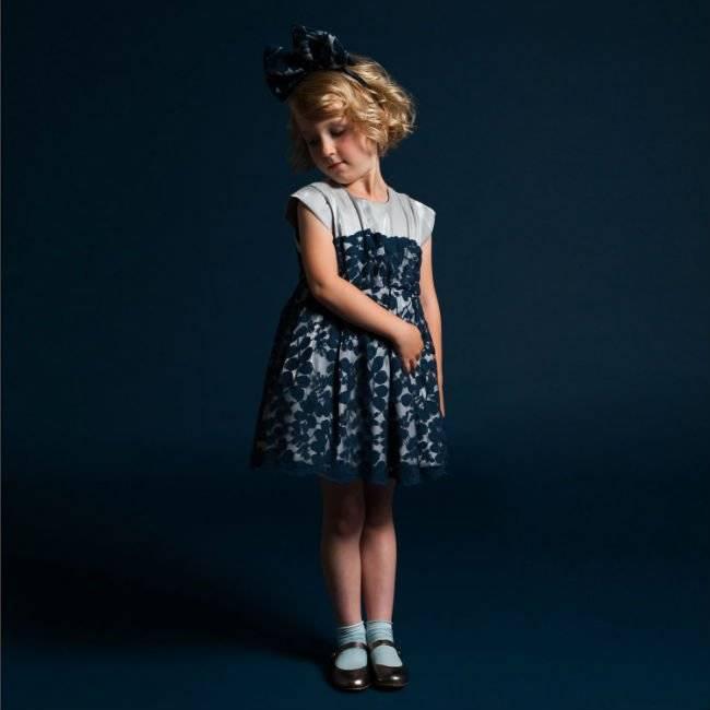 hucklebones london leafy lace navy dress aw14
