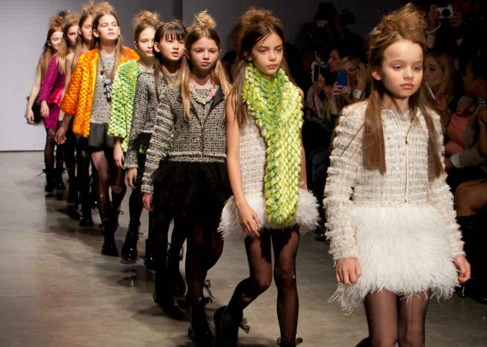 mischka aoki girls fashion show fw14