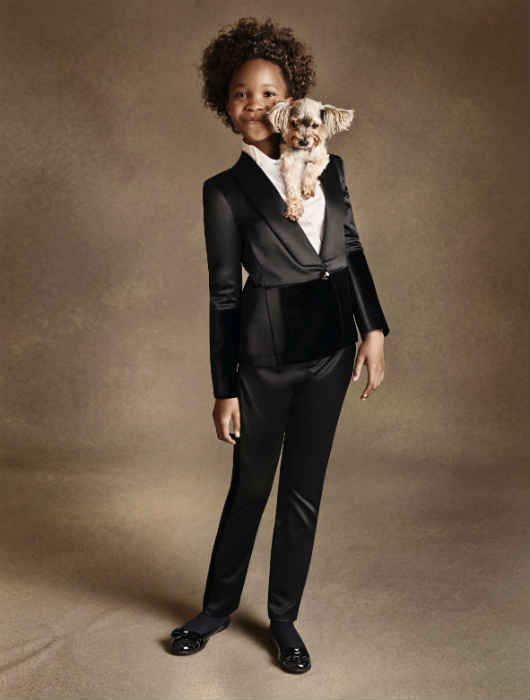 quevenzhane wallis armani junior fall winter 2014