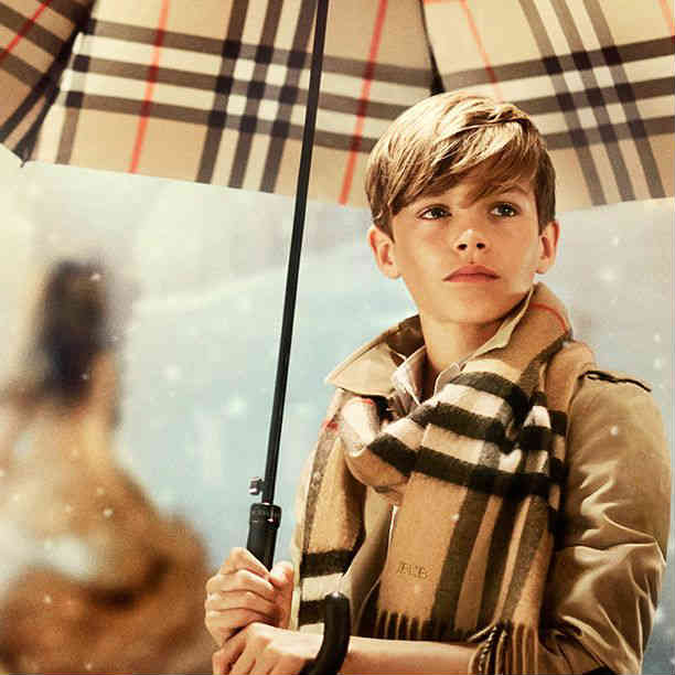 romeo beckham burberry holiday 2014