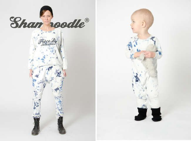 shampoodle FW14 blue tiedye outfit