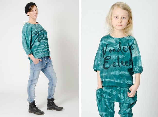 shampoodle fw14 electic green tie dye outfit