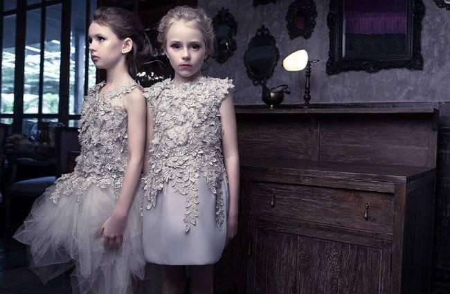 Mischka Aoki Girls Couture Dress SS14