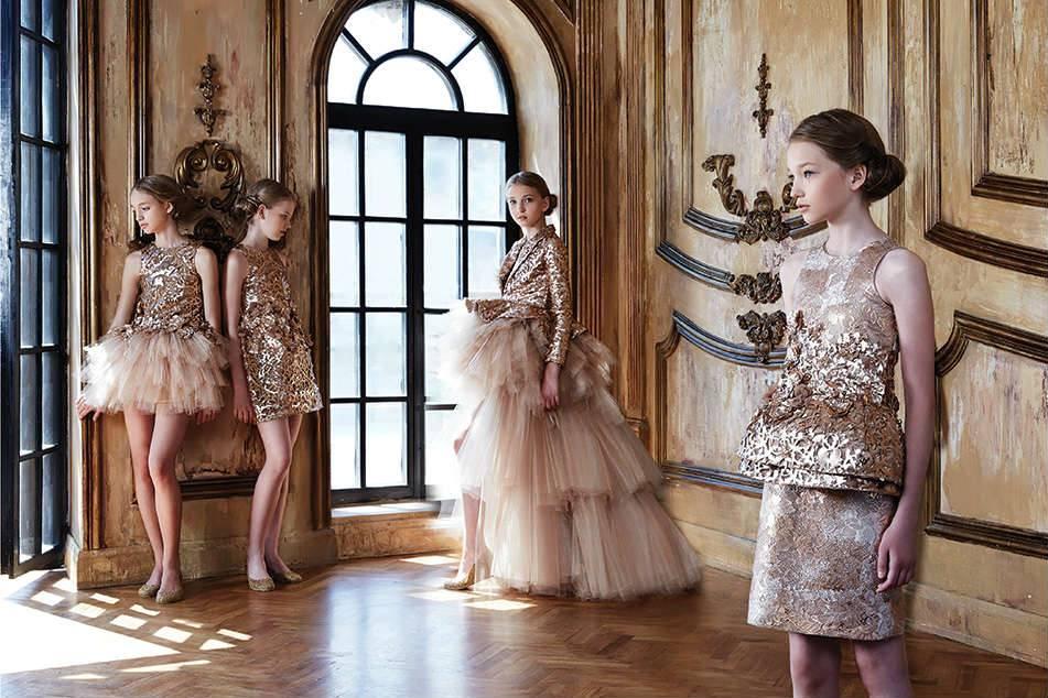 Mischka Aoki Luxury Designer Girls Special Occasion Dress