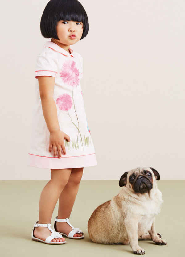 Armani Junior Baby Girls Pink Tulip Dress