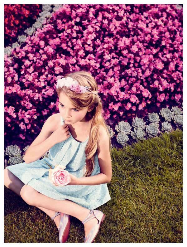baby dior girls blue dress summer 2014