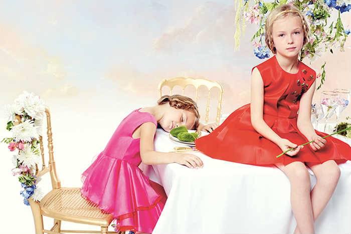 baby dior girls dress ss15