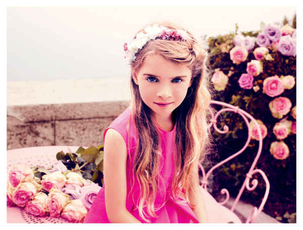 baby dior girls pink spring dress