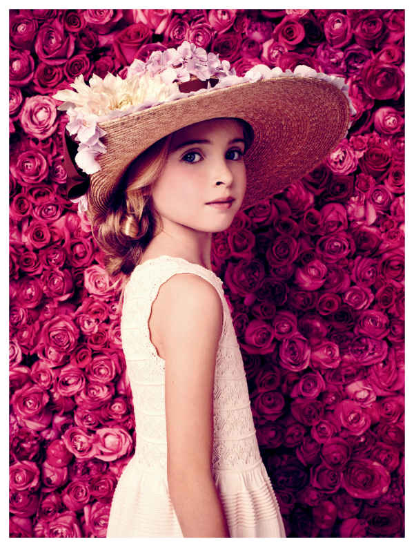 baby dior girls white summer dress and hat 2014
