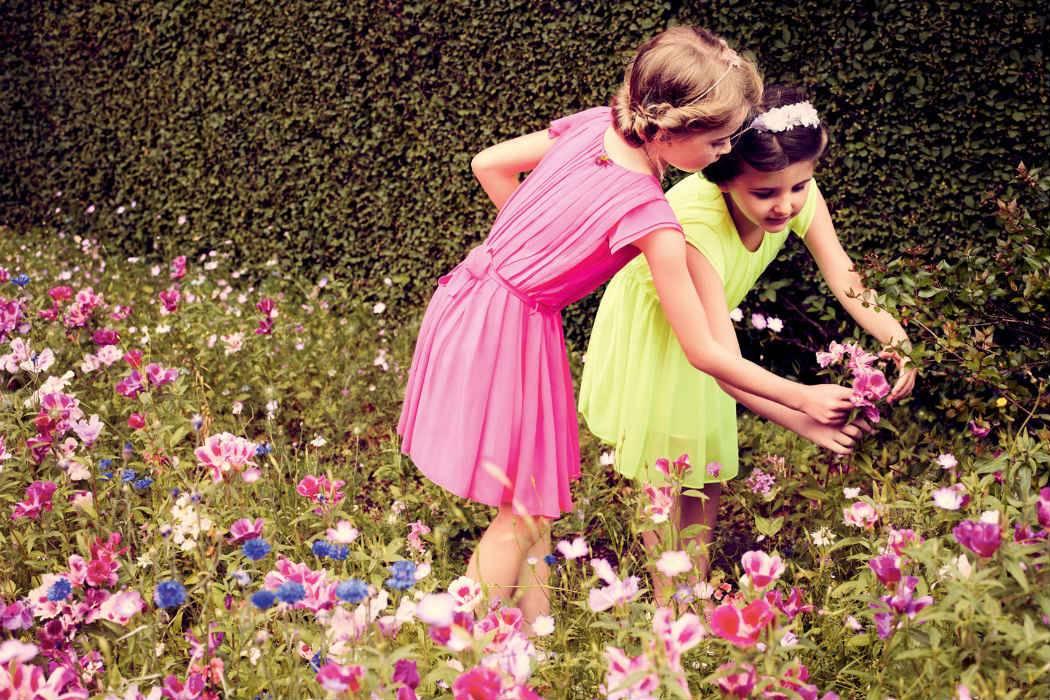 baby dior girls yellow pink dress summer 2014