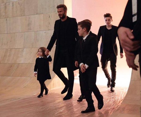 Beckham Bunch at New York Fashion Week Fall Winter 2015