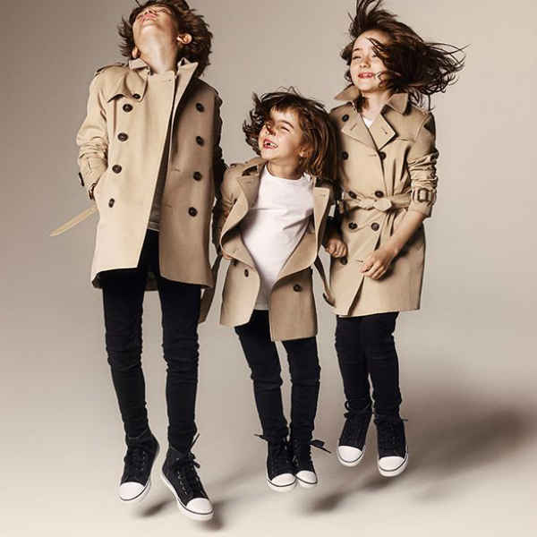 burberry kids fw14 trench coats