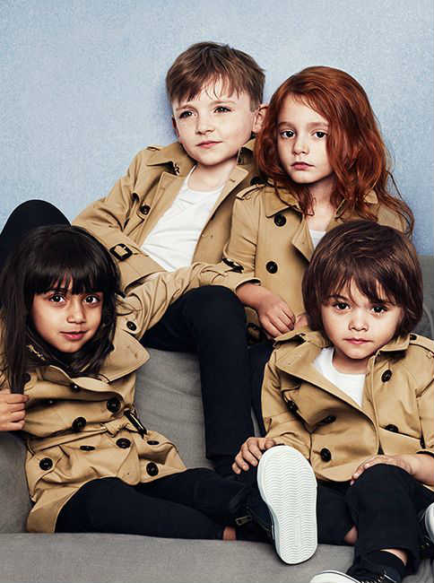 burberry kids ss14 trench coats