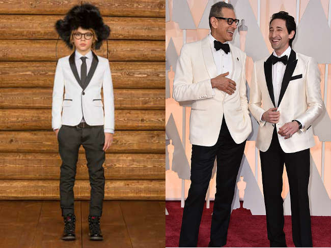 dsquared2 boys black and white suit oscars