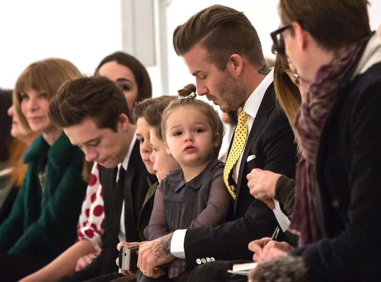 Beckham Family Front Row at New York Fashion Week Fall Winter 2014