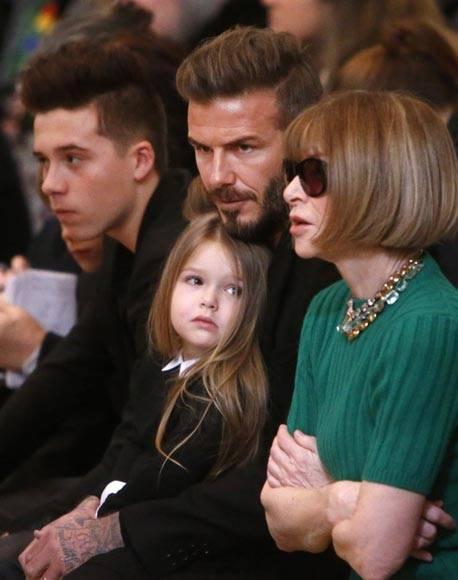 Beckham Family at New York Fashion Week Fall Winter 2015