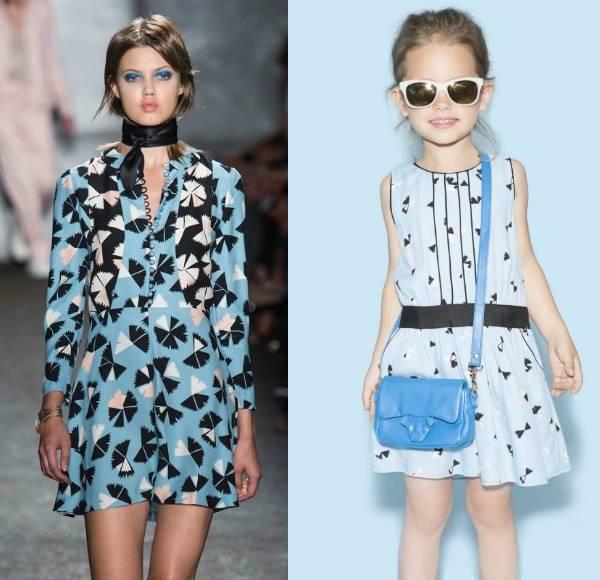 little marc jacobs blue dress ss14