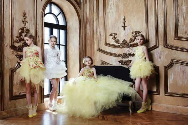 mischka aoki ss15 yellow dresses