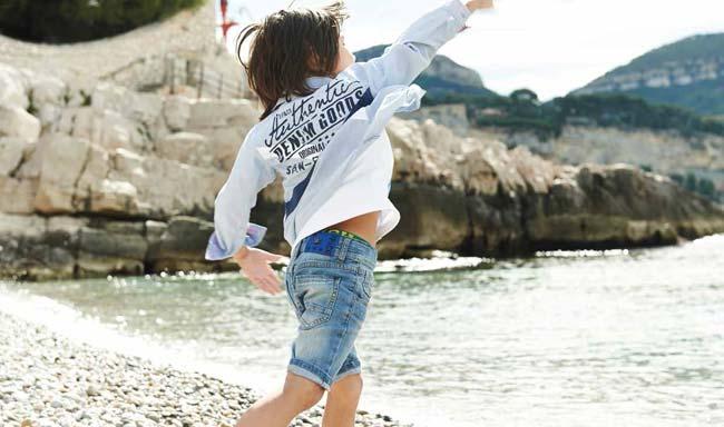 3 pommes boys summer beach shirt