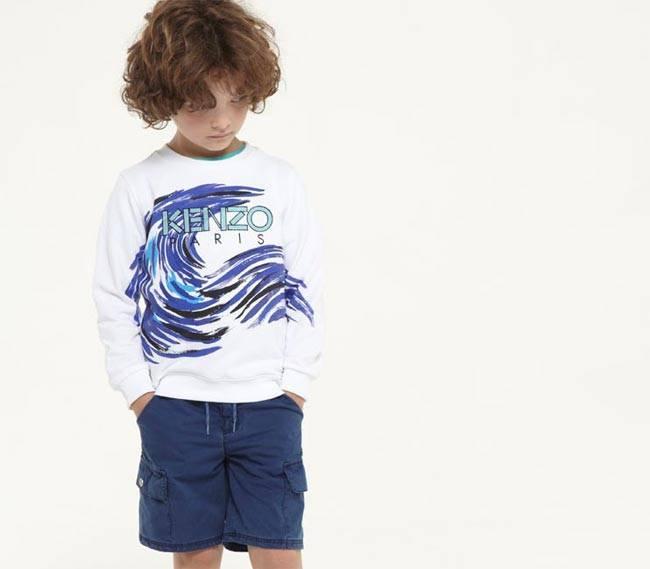 Kenzo Boys Spring Summer 2015 Wave Shirt