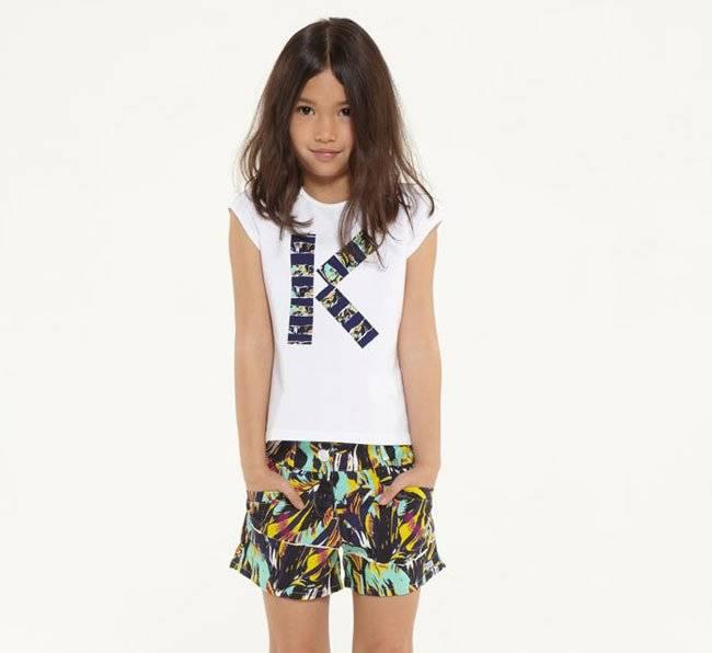 Kenzo Girl Tiger Shirt and Shorts SS15