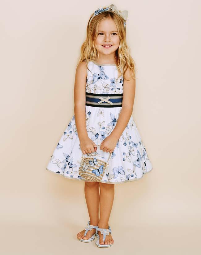 MONNALISA Bon-Ton Spring Summer 2015 Girls Butterfly Dress