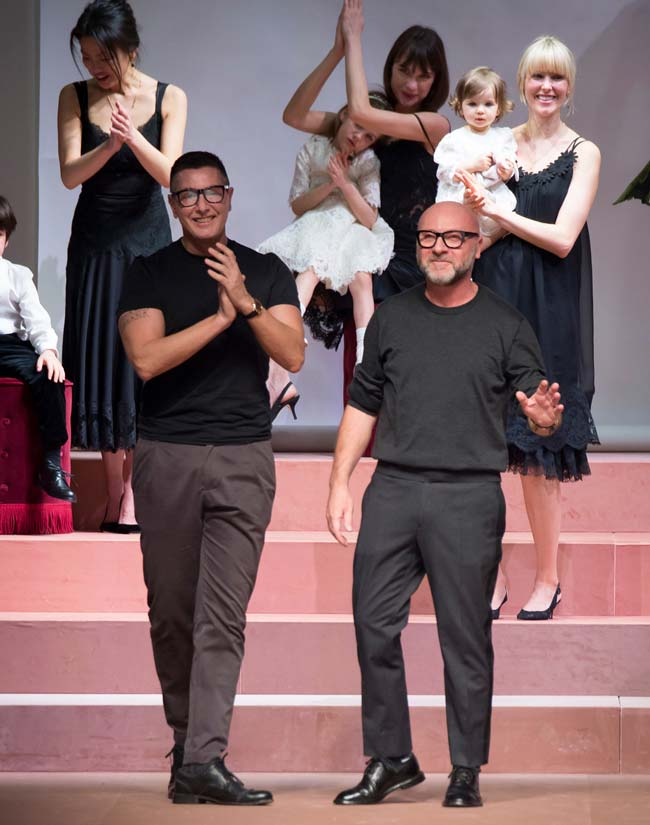 desginers dolce and gabbana winer 2016 fashion show