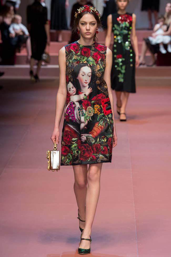 dolce and gabanna winter 2016 mamma dress
