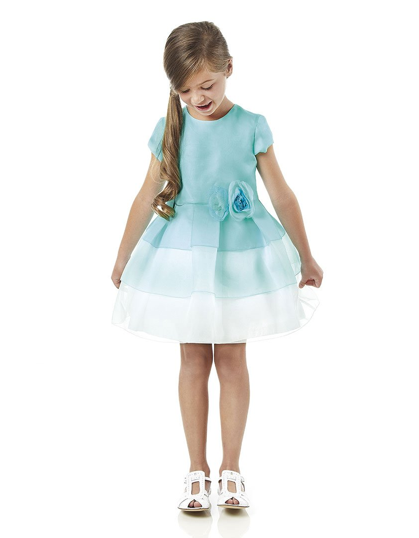fendi girls blue organza dress