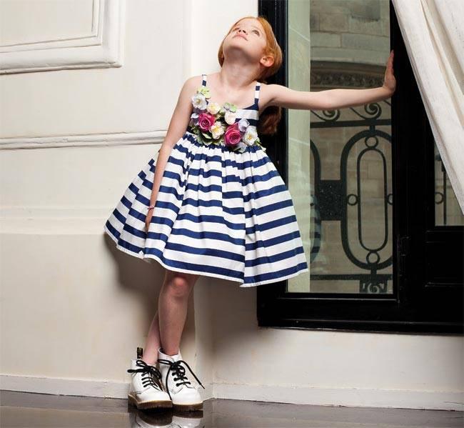 junior-gaultier-girls-ss15-white-blue-dress