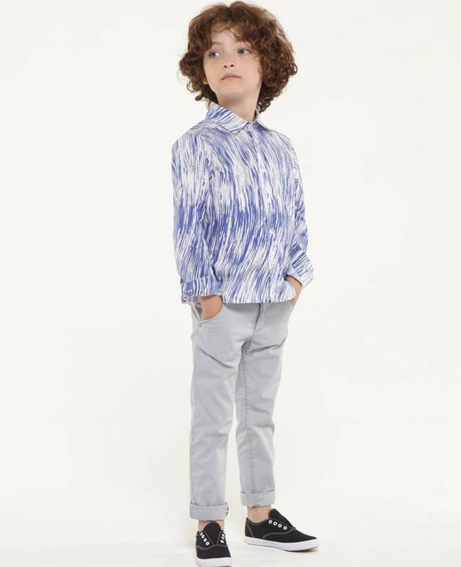 kenzo boys striped blue shirt ss15